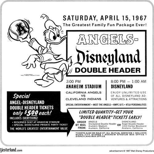 Angels-Disneyland advertisement from 1967